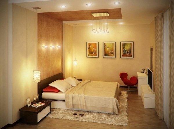 small Schlafzimmer Ideen moderne Beleuchtung Konzept günstige