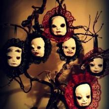 spooky Halloween Baum Dekoration halloween-gruselig Puppen