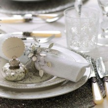 stylish christmas table decor ideas silver table decoration ideas place mat napkin ring