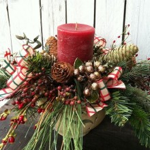 tolle Weihnachts-Besteck-Tisch Dekor-Ideen, Natürliche Materialien