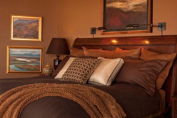 trend im Schlafzimmer malen eine Neutrale Farbe Paletten-braunen ...