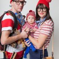 trio halloween-Kostüme Ideen DIY Familie Kostüme last-minute-halloween-Kostüm-Ideen