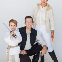 trio halloween-Kostüme Ideen Familie halloween-Kostüme star-wars -