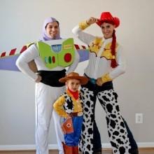 trio halloween-Kostüme Ideen, die Spielzeug-Geschichte-Familie-Kostüm