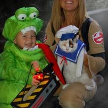 trio halloween-Kostüme Ideen ghostbusters fun halloween Kostüme