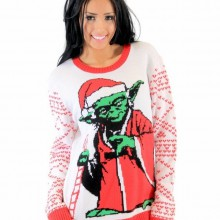ugly christmas sweater Ideen star wars yoda Pullover