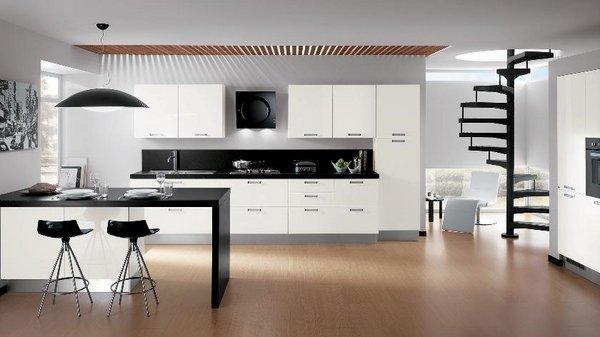 Weiße küche schwarz akzentfarbe modulare küche design ideen ...