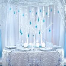 wie erstelle winter wonderland Dekoration, Design, weiß, blau, Farben, festliche winter-Dekor