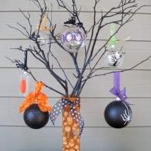 wie man halloween tree decorations DIY halloween-Ornamente Ideen
