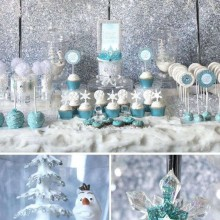 winter wonderland-Dekor Kinder-Weihnachts-party Thema Frozen-party-Ideen