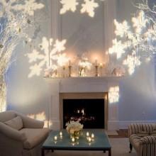 winter wonderland Dekorationen Weihnachten Dekoration Wohnzimmer Ideen-Lichter Bäume