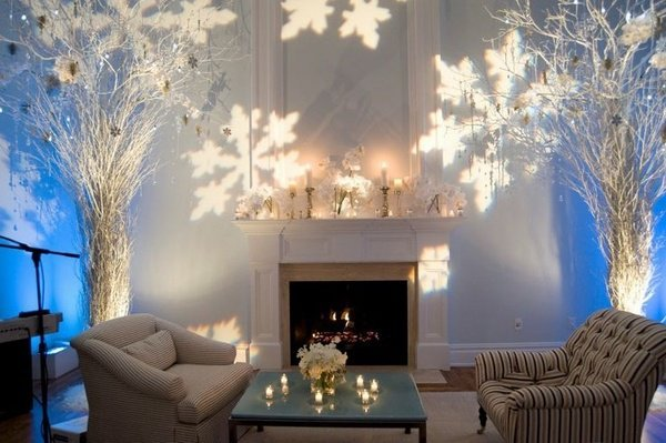 Fesselnd Winter Wonderland Dekorationen Weihnachten Dekoration Wohnzimmer  Ideen Lichter Bäume