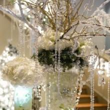 winter wonderland Dekorationen zu Hause Deko-Ideen Tafelaufsatz Glas-Perlen