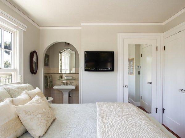 zeitgenössische Schlafzimmer edgecomb Grau Wand Farbe weiß ...