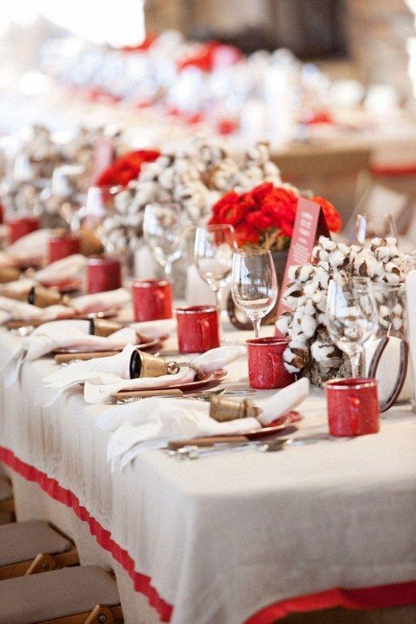Zeitgenossischer Silber Weiss Weihnachten Tischdekoration Moderne