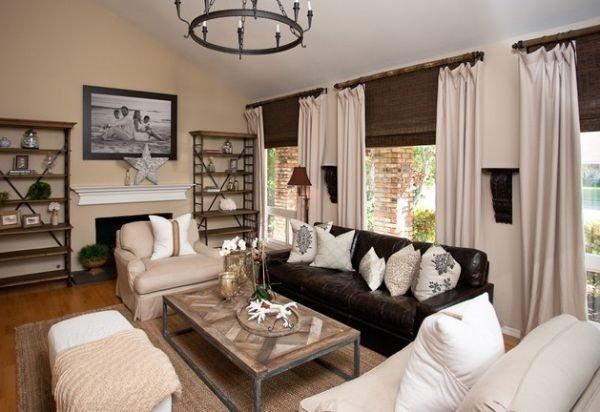 wohnzimmer design braun beige bambus - Wohnzimmer Braun Beige