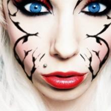 Billig halloween Kontaktlinsen und make-up-Ideen