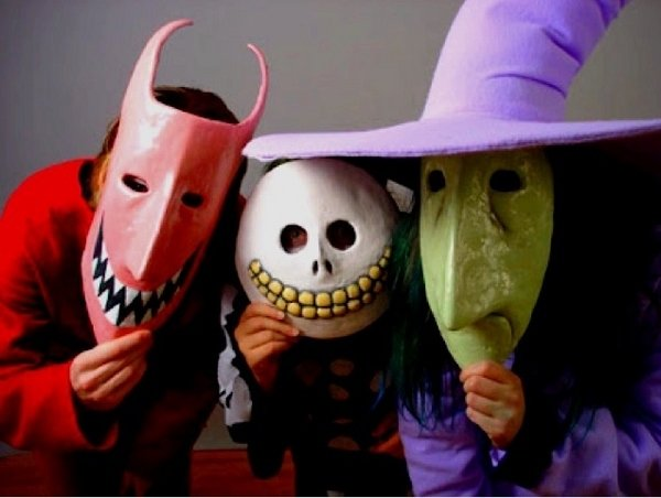 diy scary halloween masken kinder halloween party. Black Bedroom Furniture Sets. Home Design Ideas