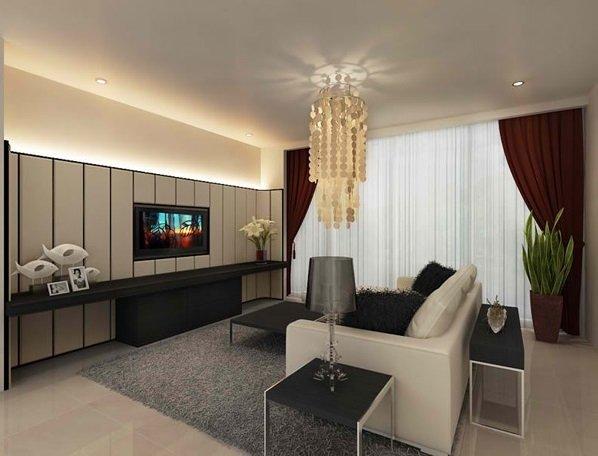 Deko-Ideen für kleine Wohnzimmer beige Braun Farben der Decke ...