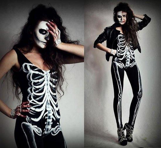 Halloween Ideen Frauen.Erstaunlich Halloween Kostueme Frauen Sexy Skelett Kostuem
