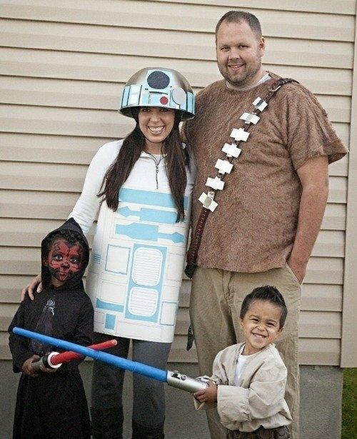 Familie Halloween Kostueme Selbst Machen Star Wars Thema 21 Kunstopde