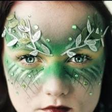 halloween-make-up-kinder-waldfee-gruen-idee-27
