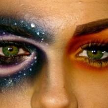 halloween-make-up-mond-sonne-ideen-frau-23