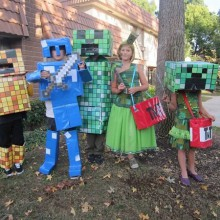 kinder-halloween-party-kostueme-minecraft-characters