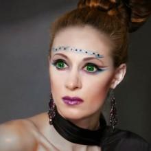 Kontaktlinsen für halloween make-up Ideen grüne Kontaktlinsen