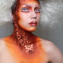 Kontaktlinsen halloween und make-up-Ideen