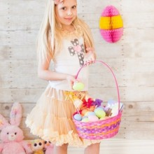 Mädchen Ostern-Kleider-Ideen in Pastell Farben osternest