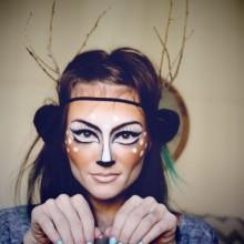 make-up-ideen-frau-hirsch-wald-natur-inspiriert-halloween-15