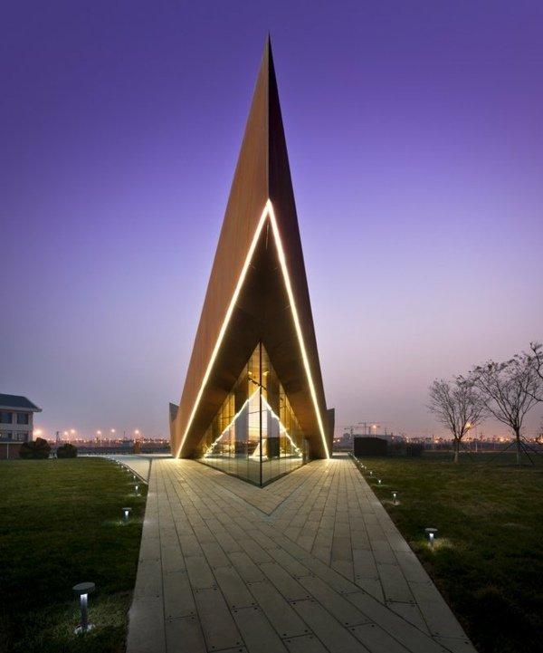 moderne Galerie minimalistischer Architektur Vanke Tripple V Gallery
