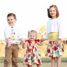 Oster-Kleidung Jungen Mädchen Kleinkinder Blumen-Motiven