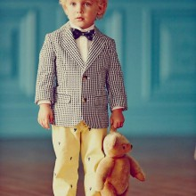 Oster-boy-outfit Jacke bow tie