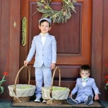 Oster-outfits für Jungen Anzüge pastel blue