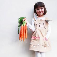 Ostern-Kleider für Mädchen-Häschen dress-Taschen