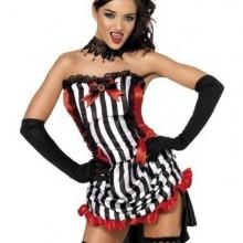 sexy-halloween-kostueme-rot-schwarz-limousine-kleid