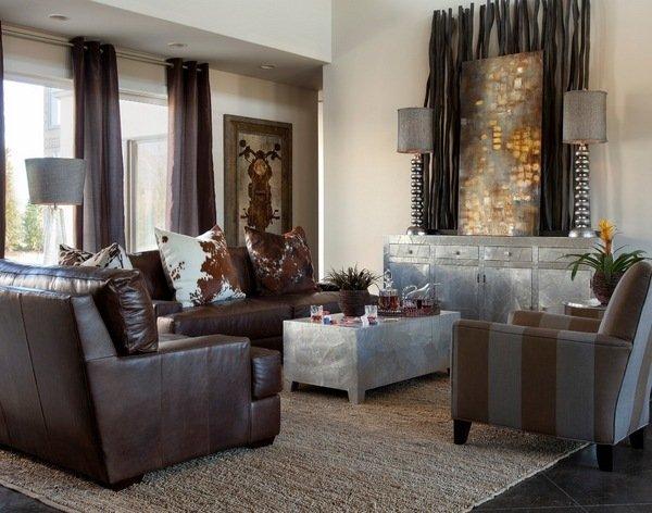 Zeitgenoessischen Wohnzimmer Deko Ideen Dekorativen Bambus Stangen