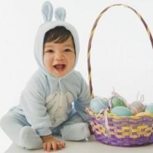 baby in easter bunny Kostüm Oster-outfits für Kleinkinder