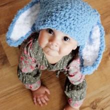 baby-junge-Ostern-outfit Kaninchen-Ohren Strickmütze