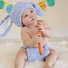 baby-junge-Ostern-outfits Ideen little rabbit