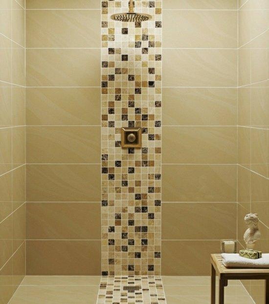 beige-braun-mosaik-fliesen-dusche  KunsTop.de