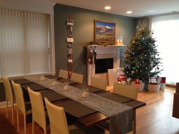 Ein Elegantes Modernes Desing Weihnachten Dekoration Wohnzimmer