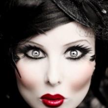 farbige halloween-Kontaktlinsen Grau
