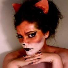fox-make-up-ideen-halloween-frau-ohr-haar-17