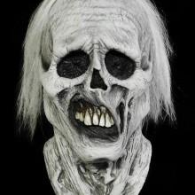 gruseligsten-halloween-masken-ideen-schaedel-weisse-haare-zaehne