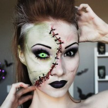halloween Kontaktlinsen halloween make up grüne Linsen