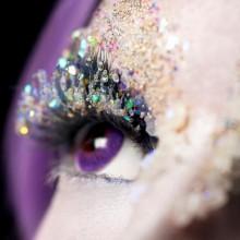 halloween Kontaktlinsen und make-up-Ideen purple-Objektive Diamanten