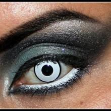 halloween Kontaktlinsen und make-up-Ideen weiße farbige Kontaktlinsen